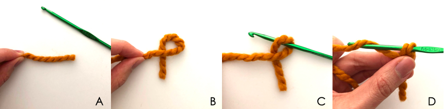 To show how to start chain stitch for lion mane