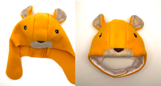 to display lion hat without mane after being sewn