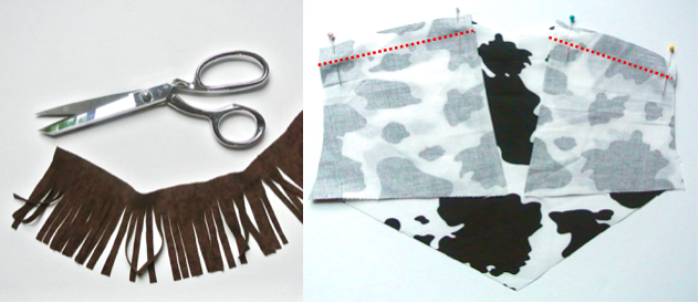 Cutting Fringes and Sewing Lining Cowboy Vest DIY