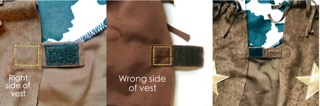 To show how to Sew Velcro Tab to Vest Cowboy Vest DIY