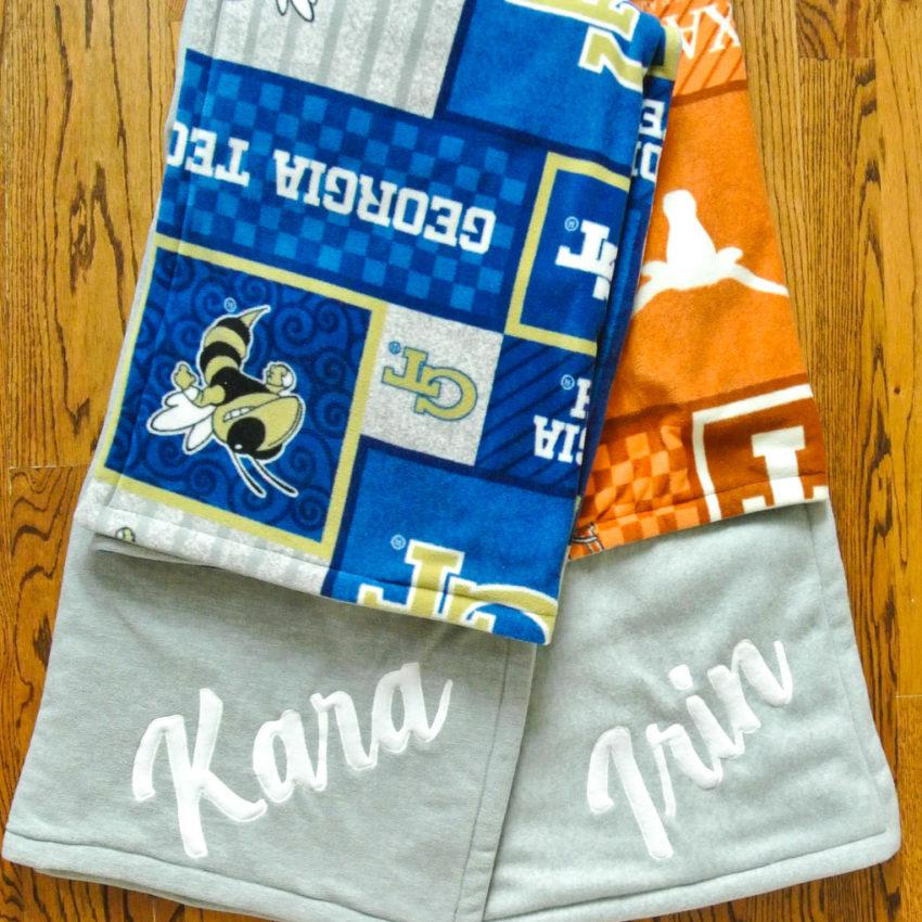 Personalized Fleece College Blankets
