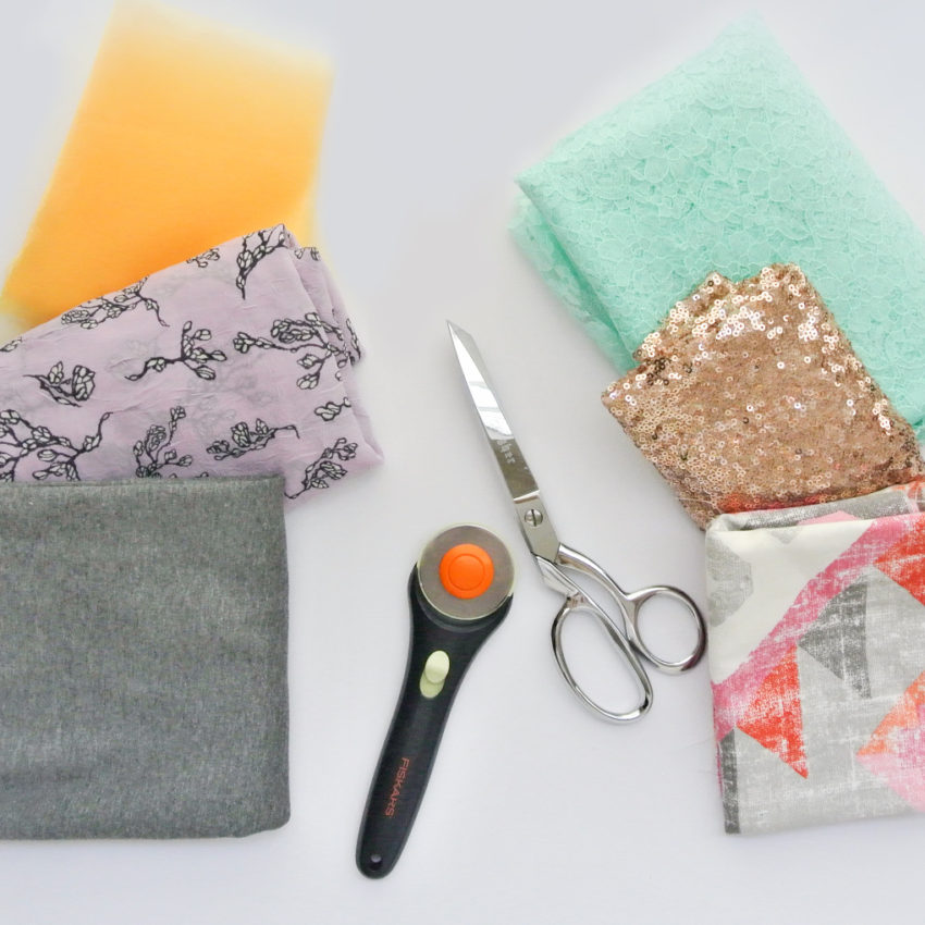 Rotary Cutter and Scissors with Different Fabric Types