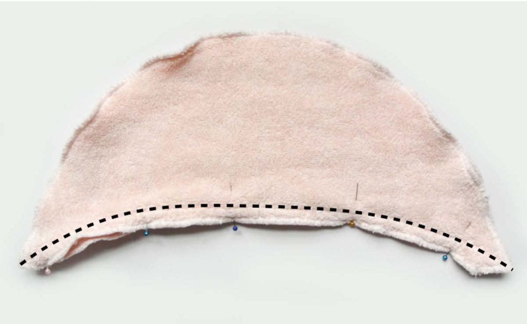 How to Make Hooded baby kid toddler Towel. Sewing Hood front pieces together