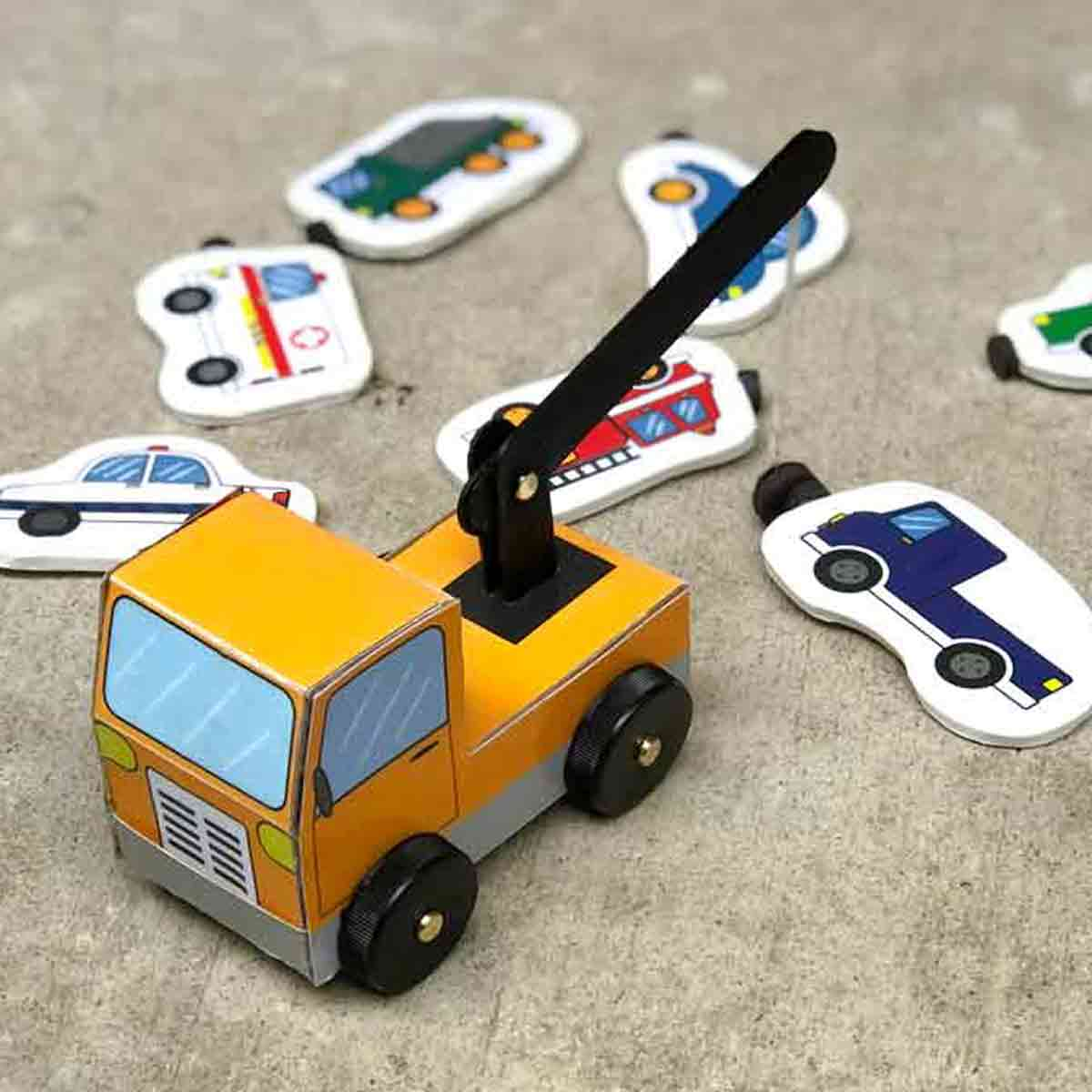 DIY Magnetic Tow Truck Activity
