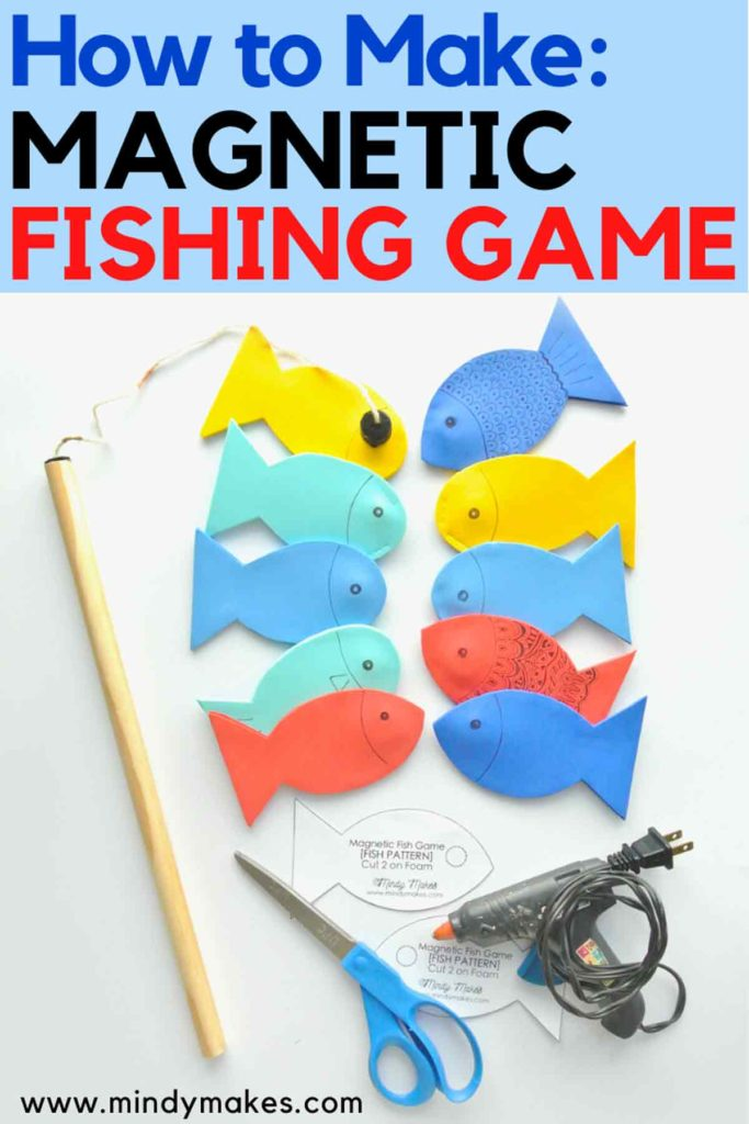 How to Make Magnetic Fishing Game Pinterest Image