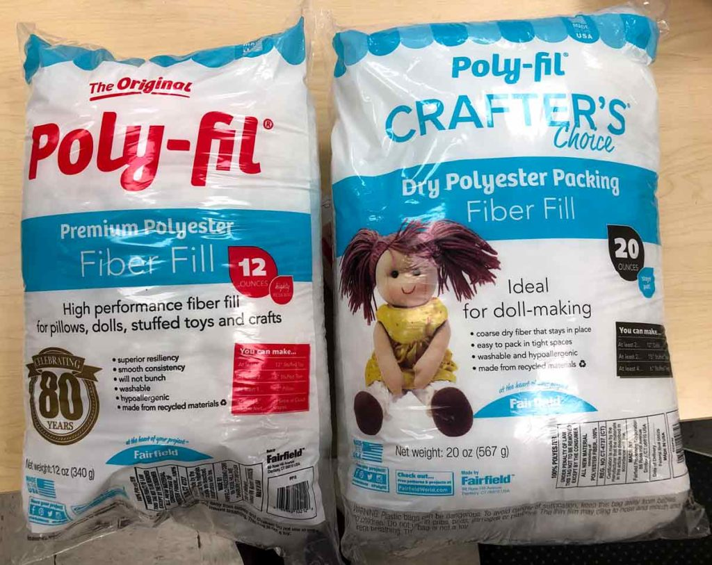 Poly-fil Premium polyester fiber fill and Dry polyester Packing Fiber Fill