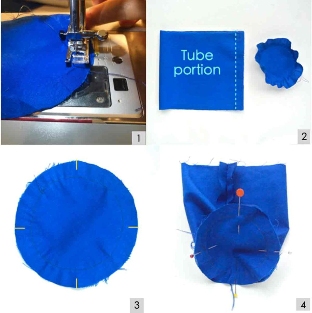 Shows Photo of how to sew lining of DIY water bottle holder bag carrier
