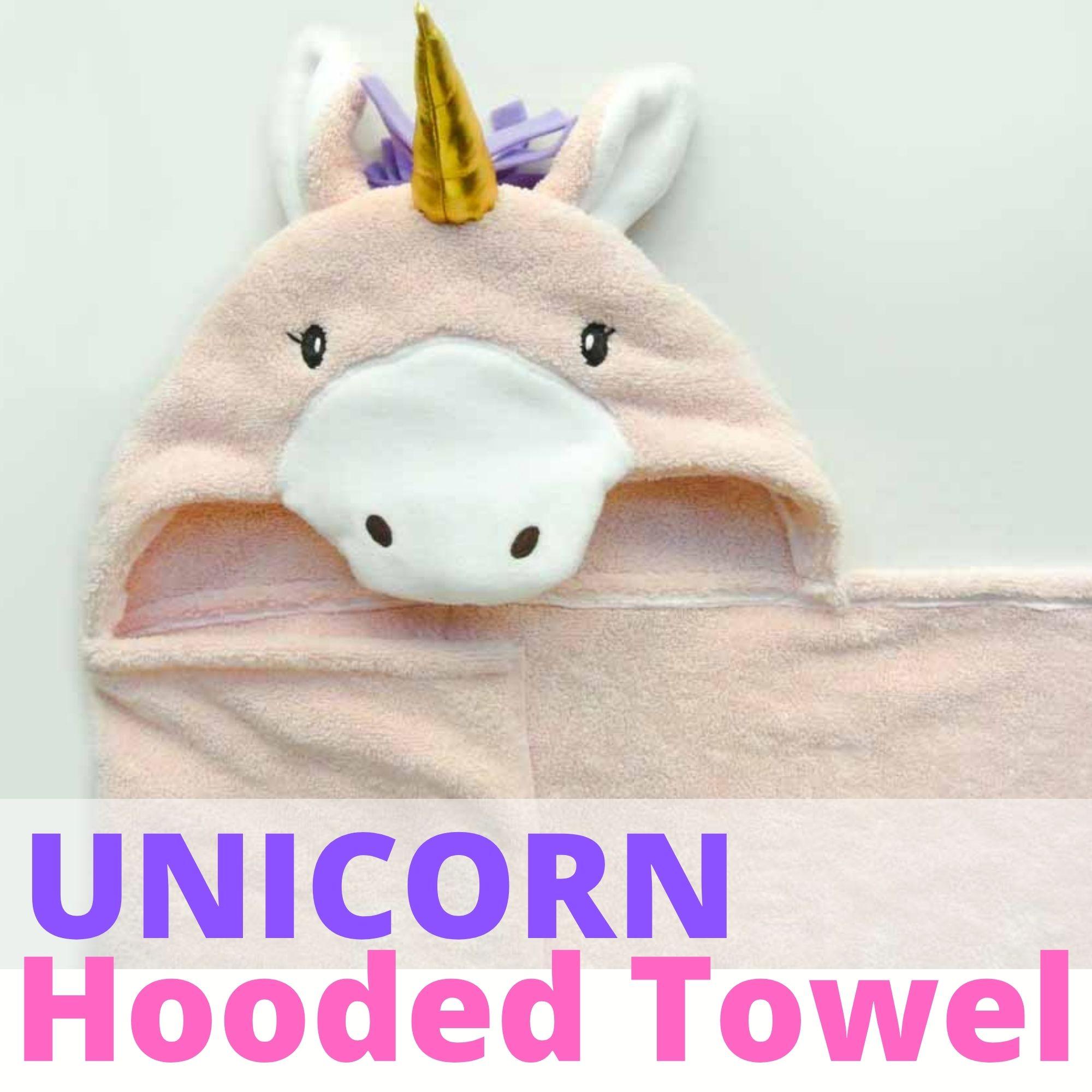 DIY Unicorn Hooded Towel
