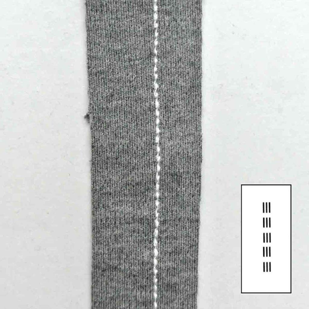Straight Stretch Stitch with Machine Stitch Symbol