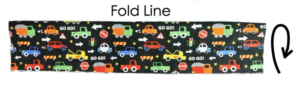 Folding Fabric Piece in half to make Pockets for Toy Cars