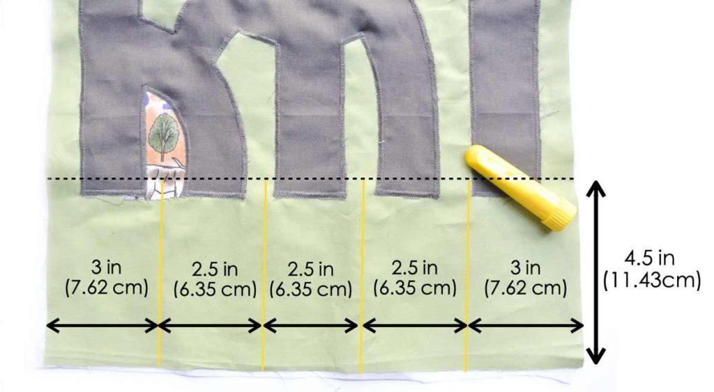 Marking Pocket Line on Play Mat. DIY Toy Car Carrier Tutorial