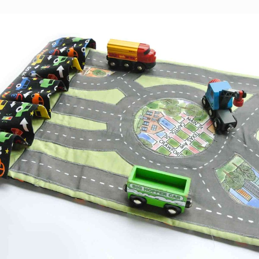 DIY Toy Car Carrier Play Mat Finished Featured Image