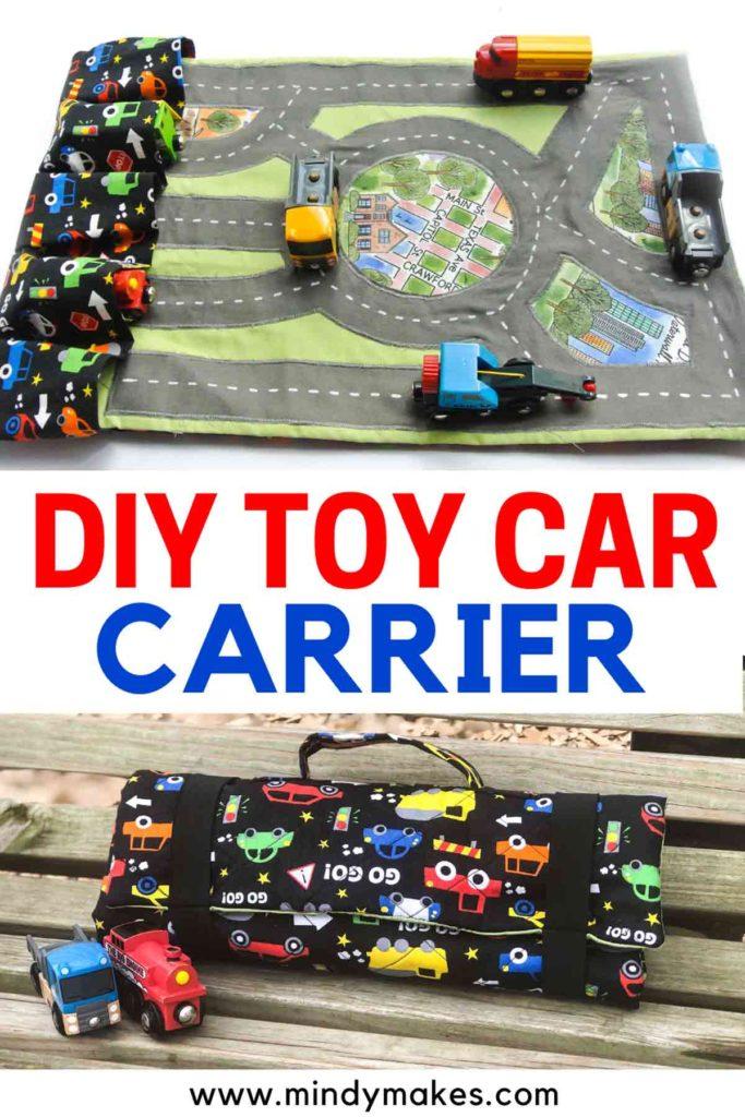 DIY Toy Car Carrier Pinterest Image