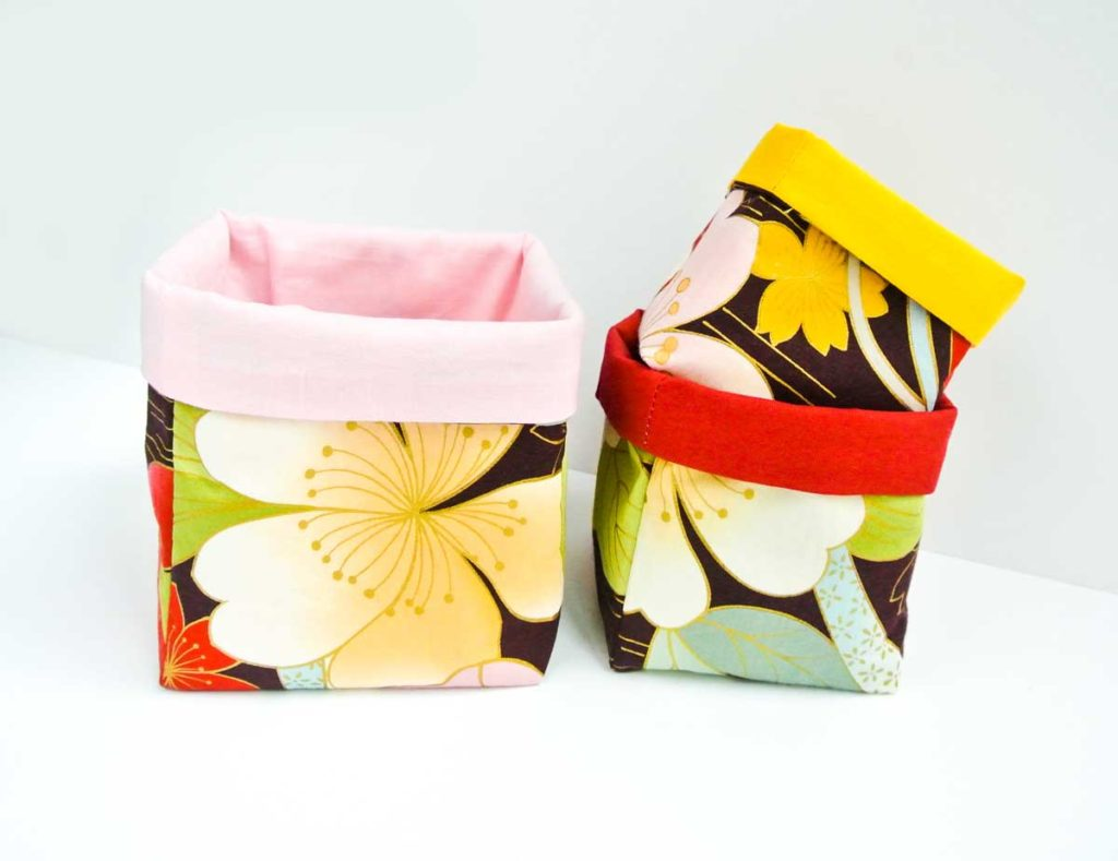 How to make fabric baskets finished view set of 3 nesting baskets