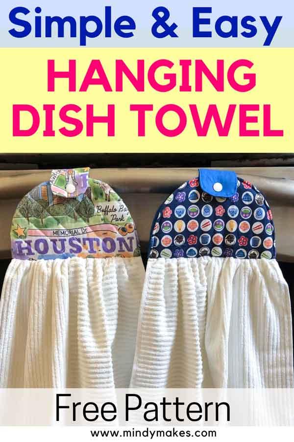 Hanging Dish Towel Sewing Pattern Pinterest Image