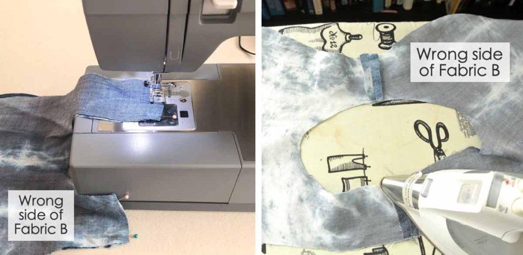 Japanese Knot Bag Tutorial sewing handles