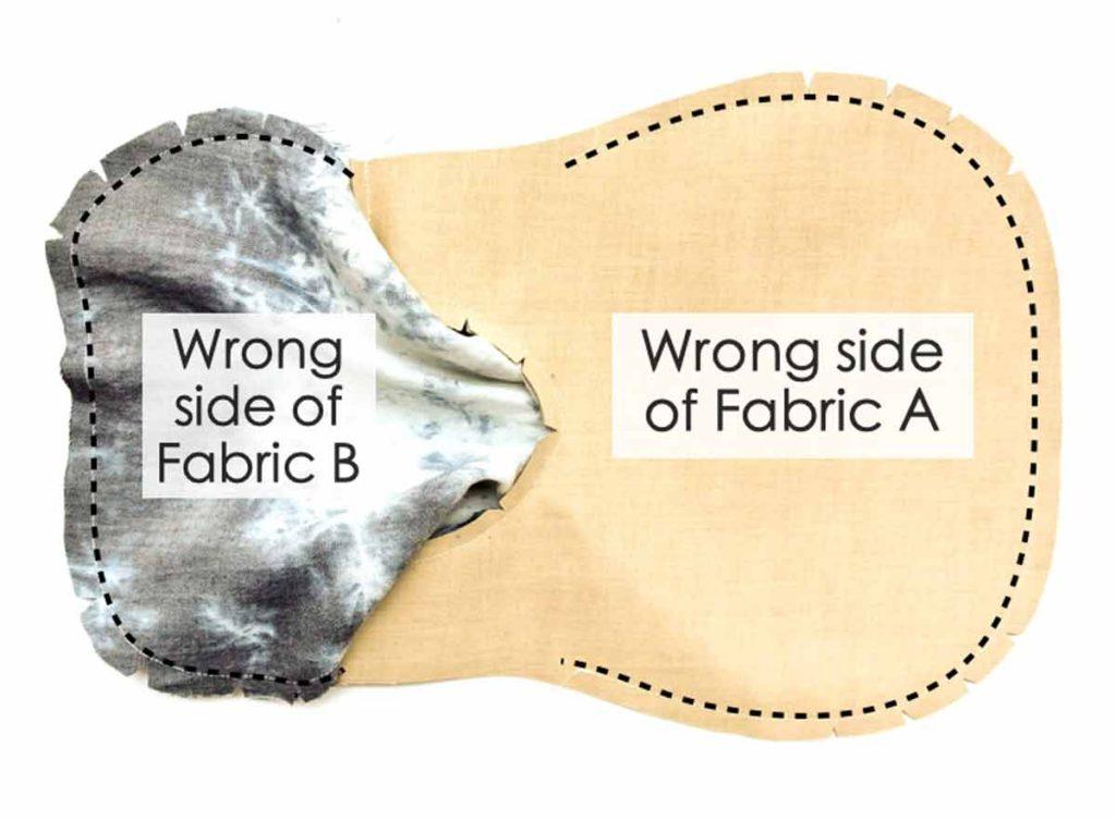 Japanese Knot Bag both sides sewn together