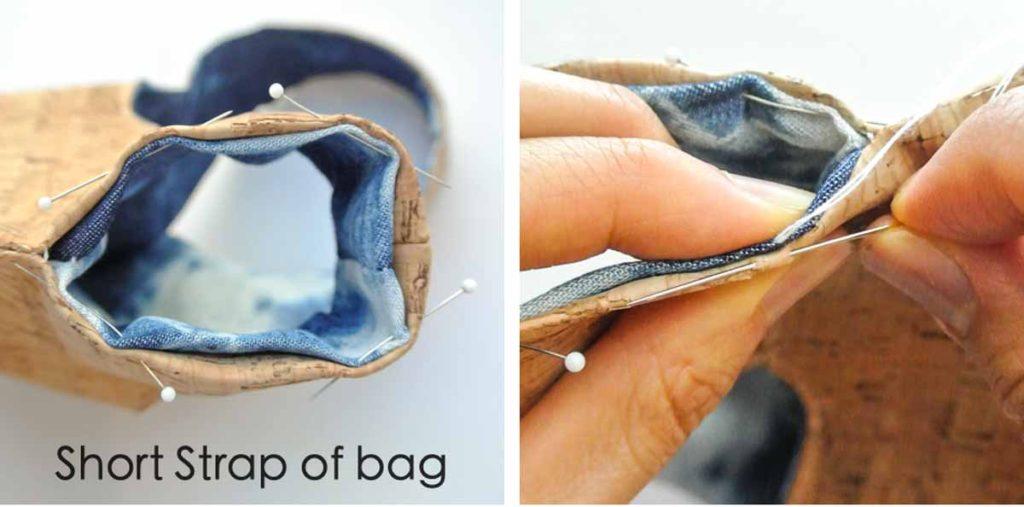 Japanese knot bag finishing handles