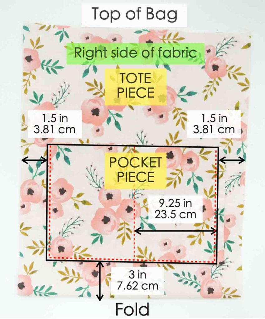 How to make Reversible Tote Sewing Pockets 1