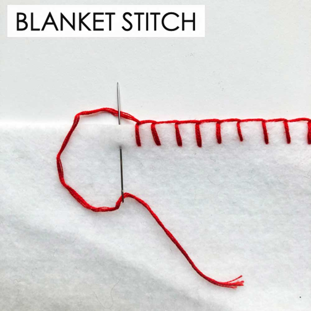 How to Make Blanket Stitch. Essential Hand Sewing Stitches