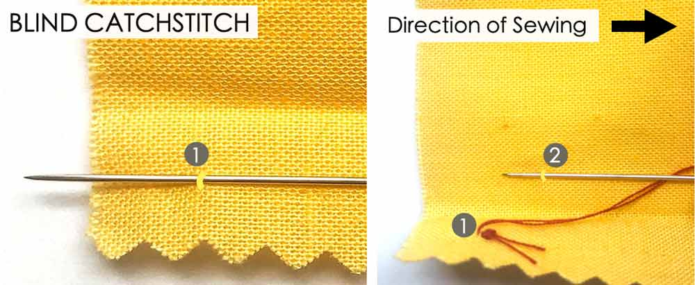 How to do Blind Catchstitch. Essential Hand Sewing Stitches