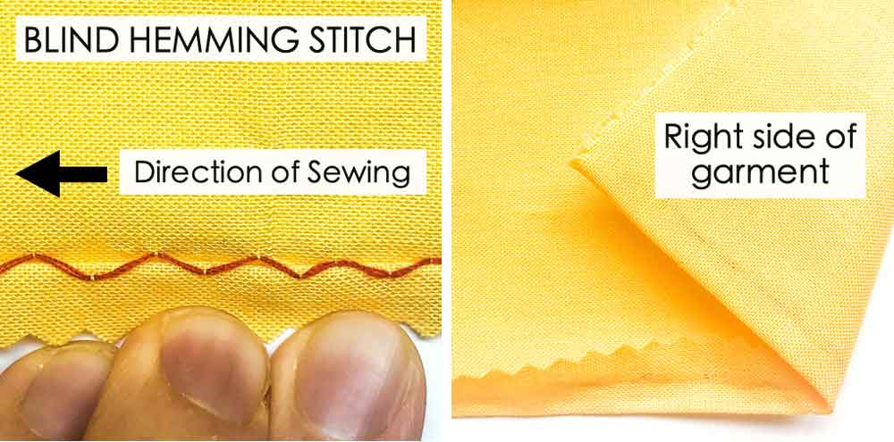 How to do Blind Hemming Stitch. Essential Hand Sewing Stitches