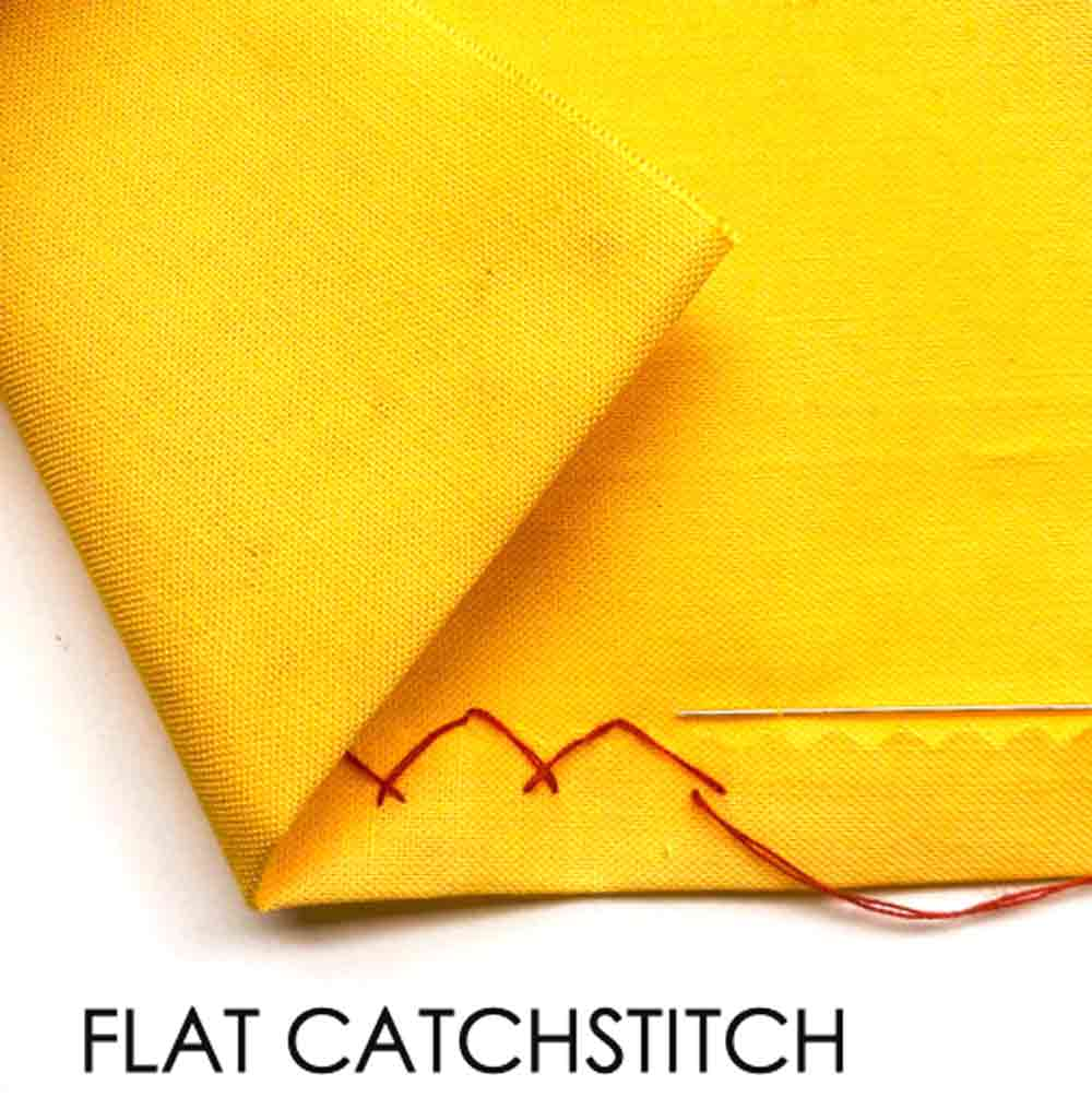 How to Do Flat Catchstitch. Essential Hand Sewing Stitches