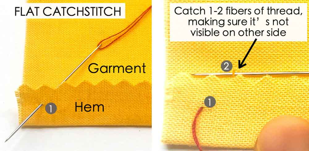 How to Make Flat Catchstitch. Essential Hand Sewing Stitches