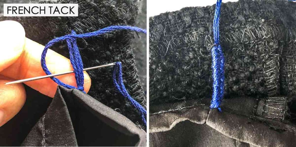 How to make French Tack. Essential Hand Sewing Stitches
