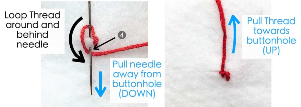 How to Make Buttonhole Stitch. Essential Hand Sewing Stitches