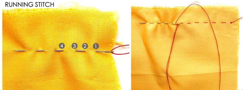 How to Make Running Stitch. Essential Hand Sewing Stitches