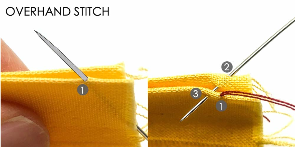 How to Make Overhand Stitch. Essential Hand Sewing Stitches