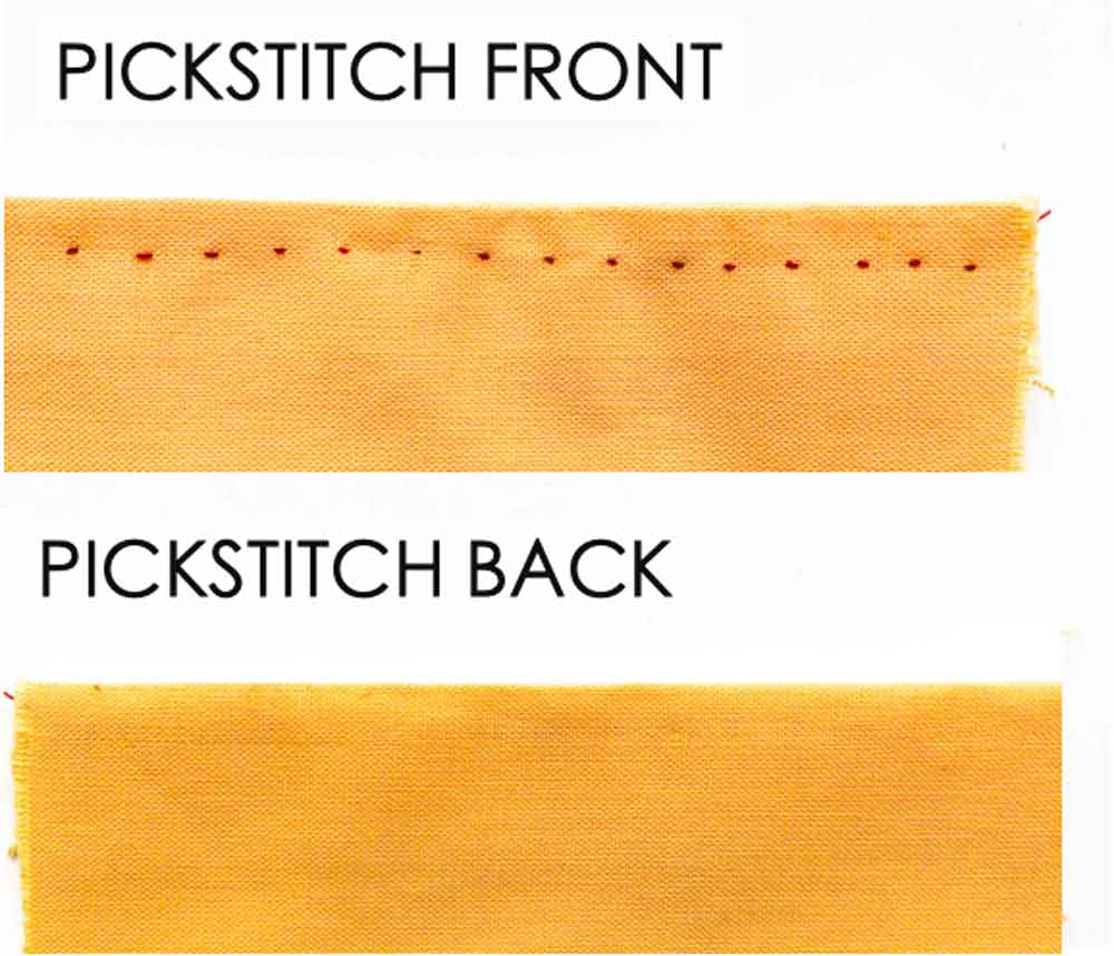 Pickstitch front and back. Essential Hand Sewing Stitches