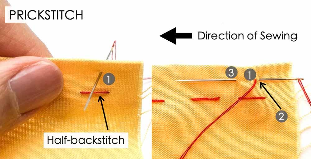 How to Make Prickstitch. Essential Hand Sewing Stitches