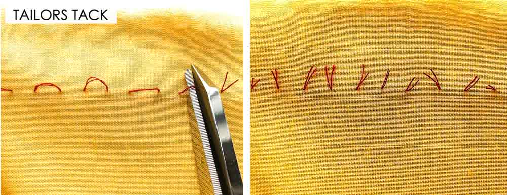 How to Make Tailor's Tack. Essential Hand Sewing Stitches