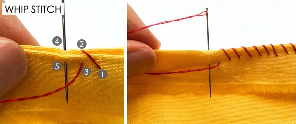 How to Make Whip Stitch. Essential Hand Sewing Stitches