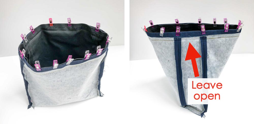 How to Make a tote bag with a lining sewing it altogether