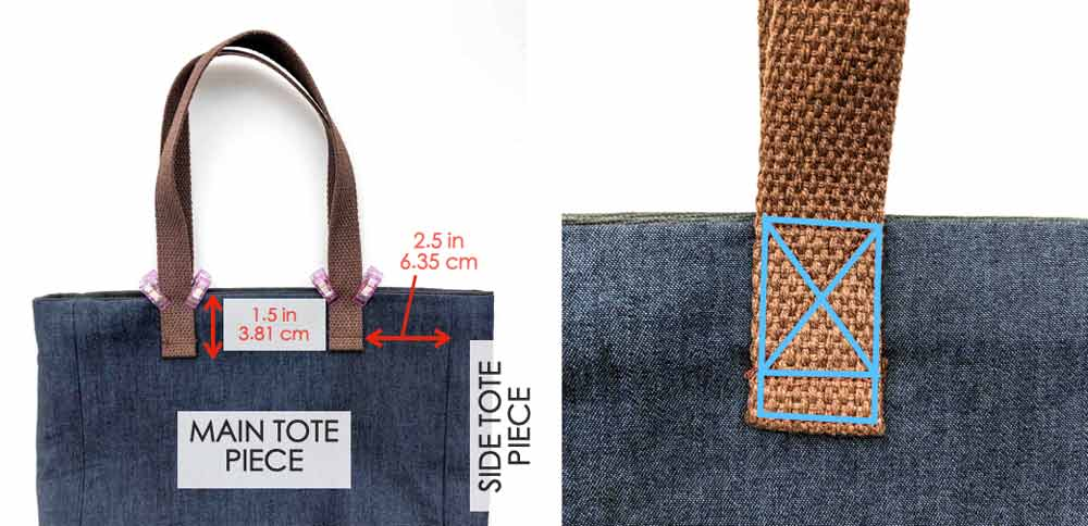 How to Make a tote bag with a lining sewing straps