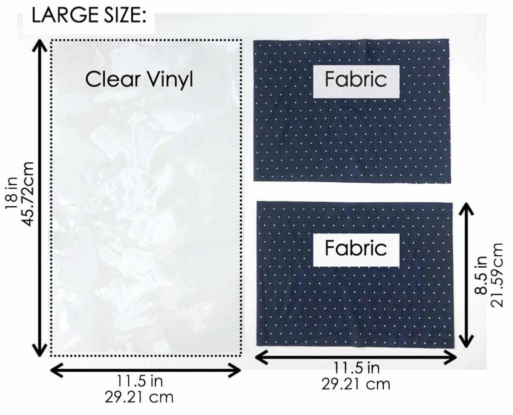 How to Make Drawstring Shoe Dust Bag Pattern. Large size pattern