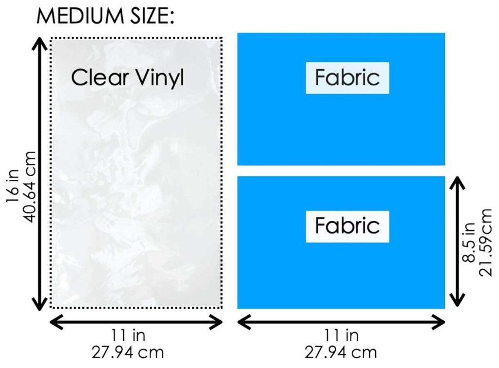 How to Make Drawstring Shoe Dust Bag Pattern. Medium size pattern
