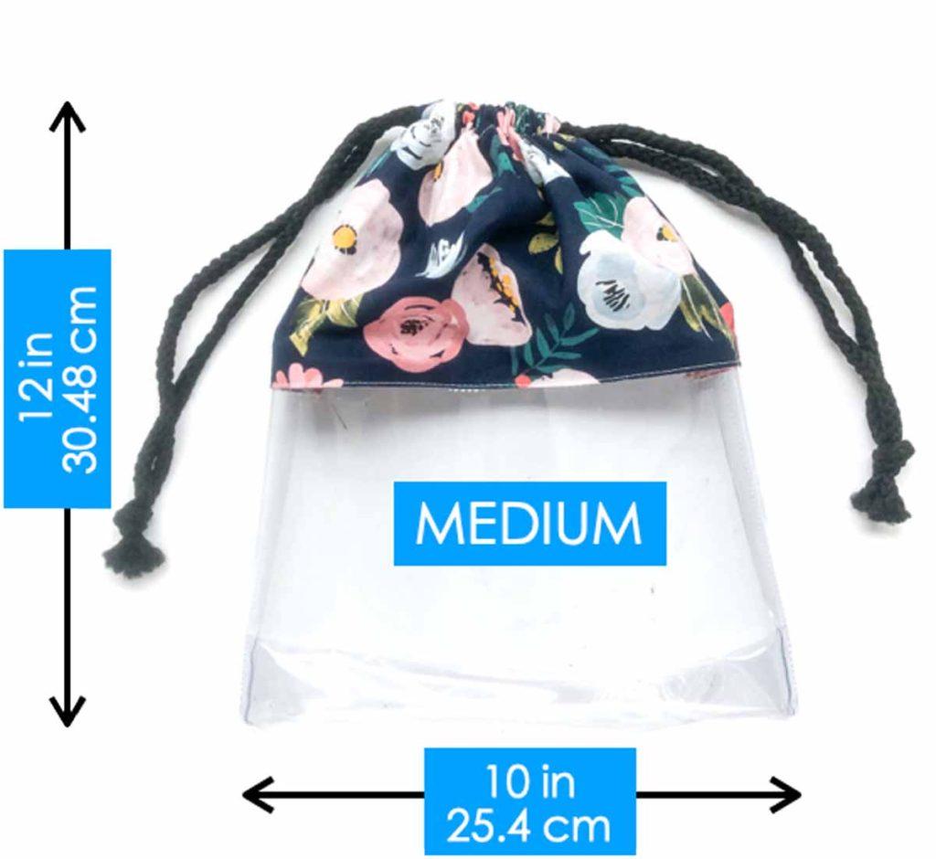 Medium Drawstring Shoe Dust Bag Dimensions