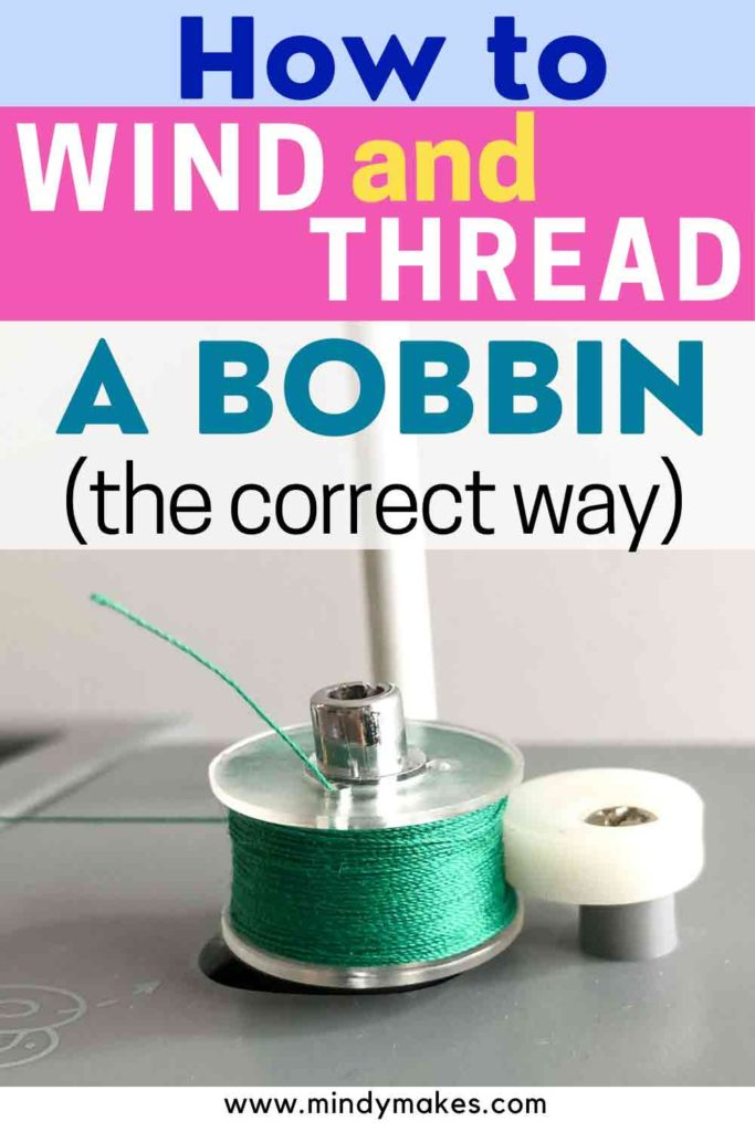 How to Wind and Thread the Bobbin Pinterest Image