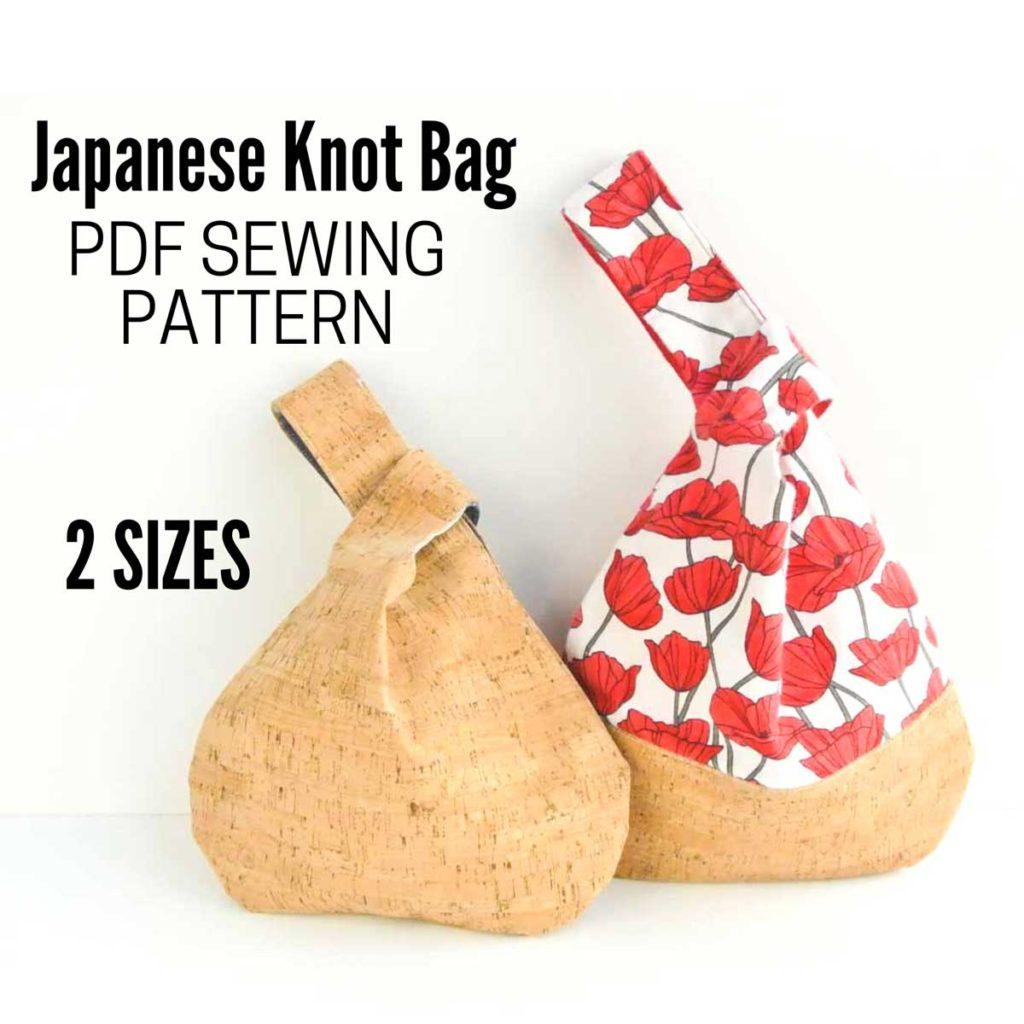 Japanese Knot Bag PDF Sewing Pattern 2 Sizes Etsy Image