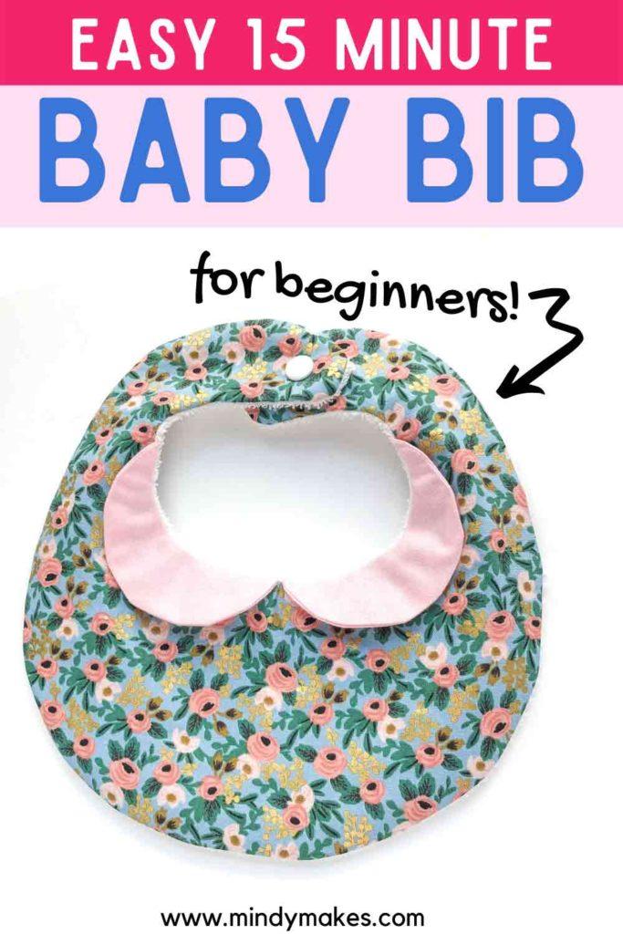 Baby Bib Pattern Pinterest Image