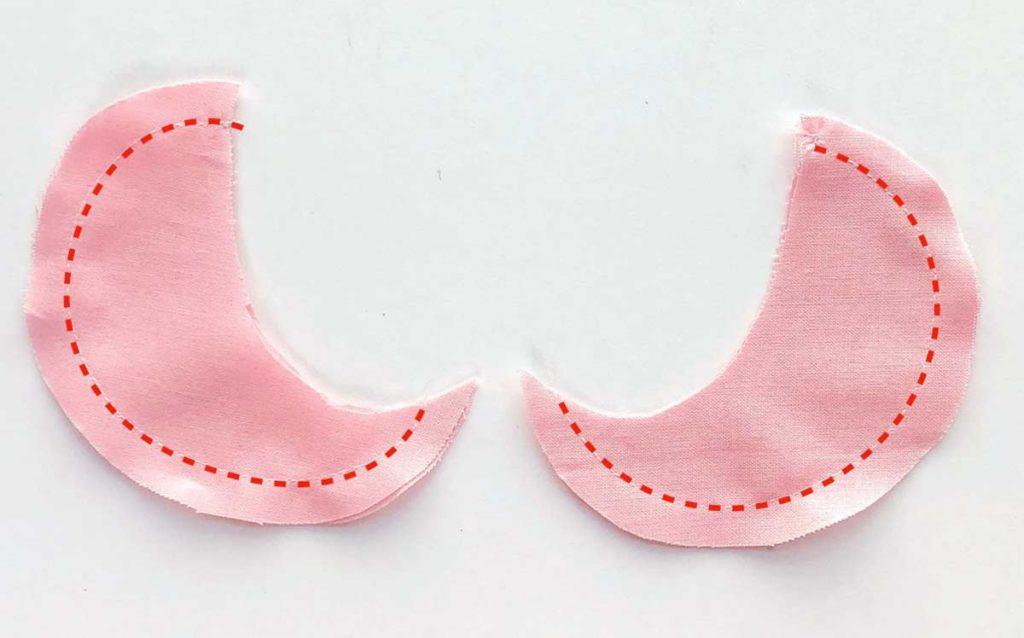 How to Make Baby Bib with Peter Pan Collar. Sewing Peter Pan Collar together