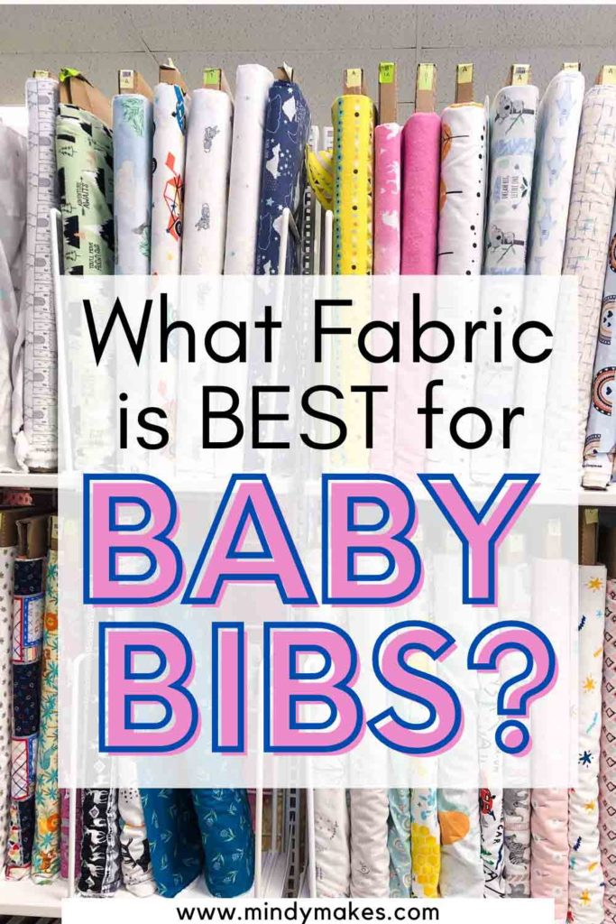 What Fabric is best for baby bibs pinterest image