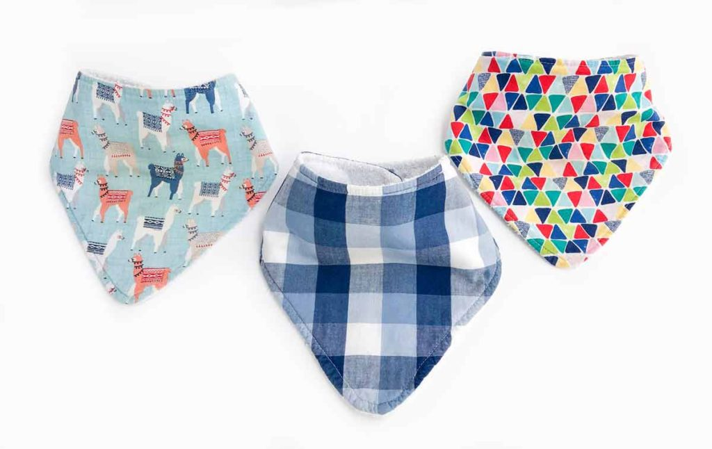 what fabric is best for baby bibs. Set of 3 finished bandan bibs