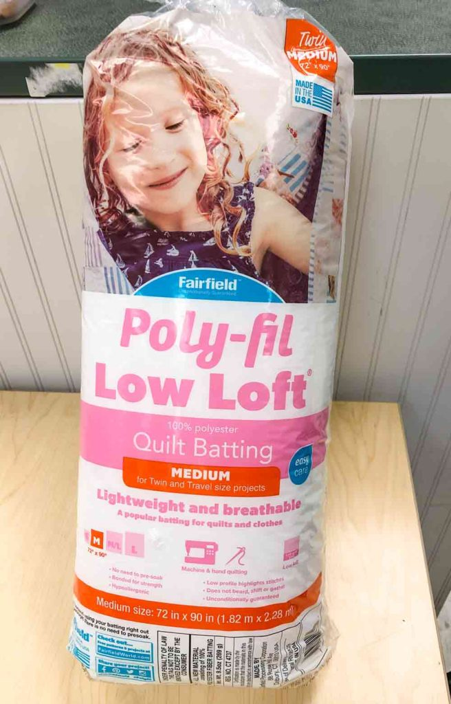 Photo of poly-fil low loft quilt batting